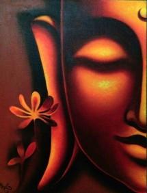 Sheena Jain Enlightened Oil on Canvas 20x16 Inches 10K