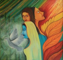 Shraboni Banerji Freedom Oil on Canvas 36x36 Inches 30K