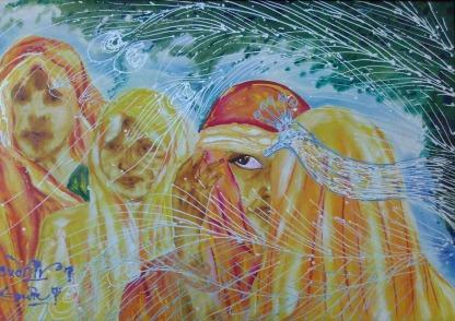 Sudhir Tripurari Beauty of Love Acrylic on Canvas 24x36 Inches 20K