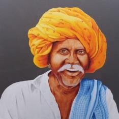 Swati Phatak Joy 24x24 Inches Acrylic on Canvas 15K