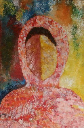 Tulika Kukreti The Face on Leave Oil on Canvas 30x20 Inches 10K