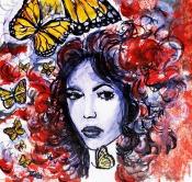 Pankaj Kumar Saxena Butterflies-Turn-ons Acrylic on Canvas 45X45 cms