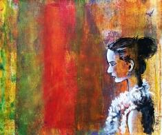 Pankaj Kumar Saxena Deamcatcher Acrylic on Canvas 40X45 cms