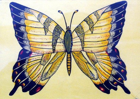 Shalini Goyal Butterfly-1 Water Colour on Handmade Paper Rs 700