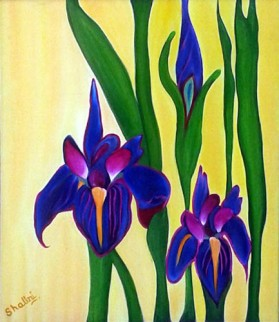 Shalini Goyal Floral-1 Oil on Canvas 36x40 Inch Rs 15000