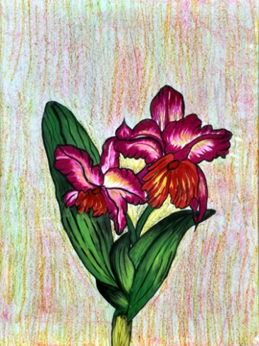 Shalini Goyal Floral-4 Water Colour on Handpaper 14x12 Inch Rs 1250