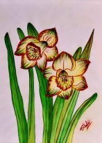Shalini Goyal Floral-6 Water Colour on Hand Made Paper 14x12 Inch Rs 1250