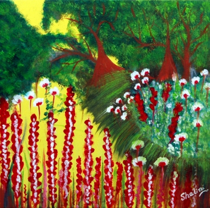 Shalini Goyal Garden 3 Oil on Canvas 2 x 22 Inch Rs 9999