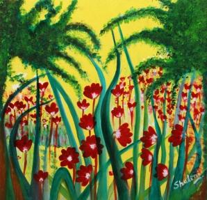 Shalini Goyal Garden 4 Oil on Canvas 2 x 22 Inch Rs 9999