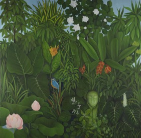 Shefali Upadhyay Bali Oil on Canvas 60x60 Inches INR 145000