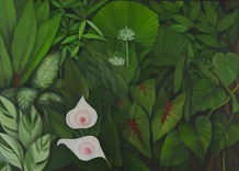Shefali Upadhyay Garden4 Oil on Canvas 28x40 Inches INR 35000