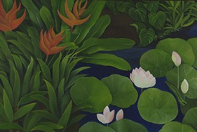 Shefali Upadhyay Garden5 Oil on Canvas 26x38 Inches INR 30000