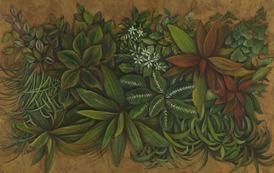 Shefali Upadhyay Garedn3 Oil on Canvas 25x45 Inches INR 35000