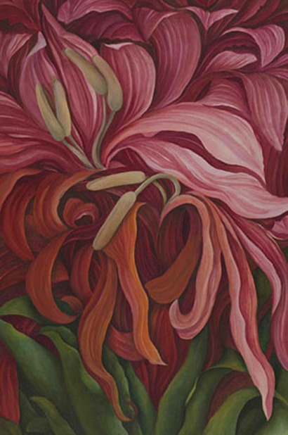 Shefali Upadhyay Gymnea lily Oil on Canvas 28x40 Inches INR 60000