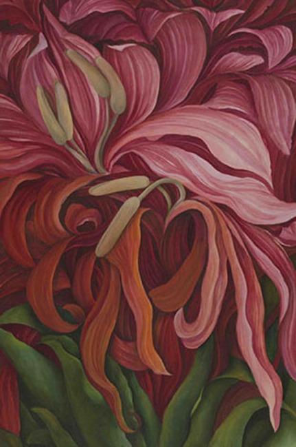 Shefali Upadhyay Gymnea lily Oil on Canvas 28x40 Inches INR 60000