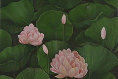 Shefali Upadhyay Lotus1 Oil on Canvas 28x40 Inches INR 25000