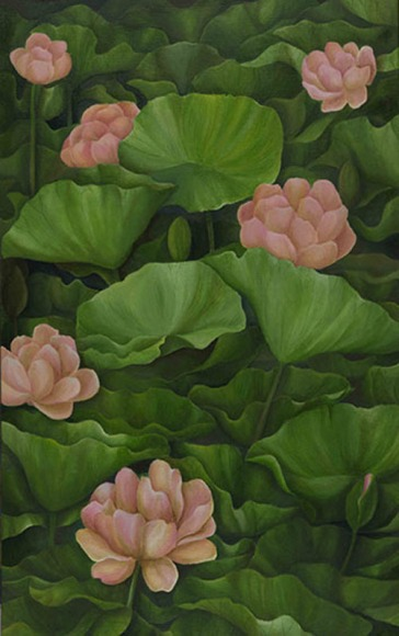 Shefali Upadhyay Lotus2 Oil on Canvas 25x40 Inches INR 35000