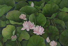 Shefali Upadhyay Lotus3 Oil on Canvas 28x40 Inches INR 30000