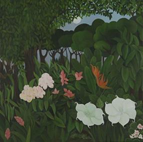 Shefali Upadhyay Moonflower2 Oil on Canvas 36x36 INR 45000