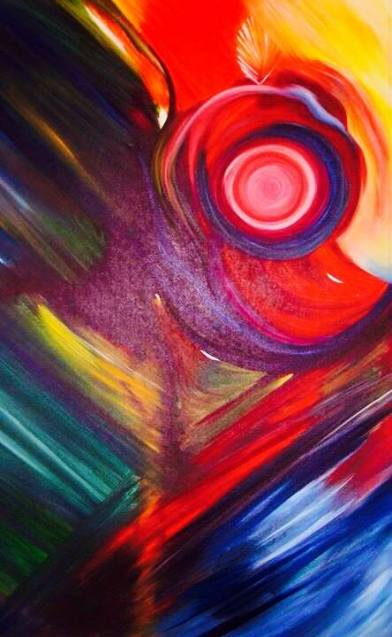 Urvashi Sharma Krishna Oil on Canvas 36x48 Inches