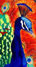 Urvashi Sharma Peacock Acrylic on Canvas 24x36