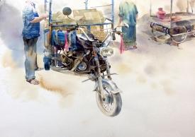 Vikrant Dattatreya Shitole Chhakada-1 Water Color 22x15 Inches INR 25000