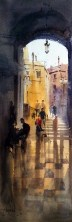 Vikrant Dattatreya Shitole Girona Water Color 7x22 Inches INR 18000