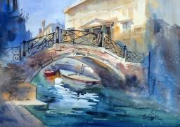 Vikrant Dattatreya Shitole Venice 01 Water Color 21x15 Inches INR 25000