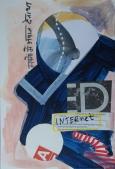 Harpreet Singh I Internet I Acrylics and Collage on Paper I 5x8 Inches I 2016 I 10000/-