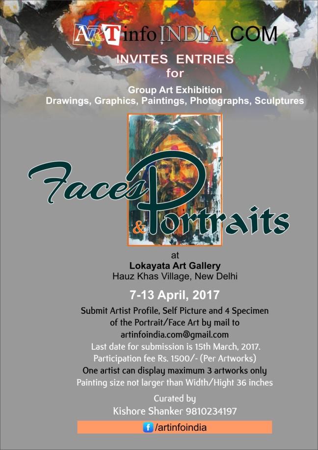 Artist Invitation Faces & Portraits 2017