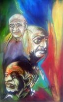 Aman Chakra Sardar Patel Acrylic on Canvas 29 x 18 Inches