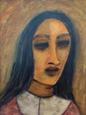 Deepali Jain Introspection Acrylic on Canvas 24 x 18 Inches