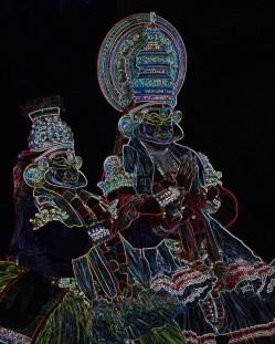 Kishore Shanker Kathakali-1 Photo-Graphics 16x20 Inches