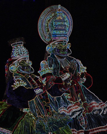 Kishore Shanker Kathakali-1 Photo-Graphics 16x20 Inches