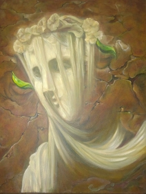 Madhu Gupta Hope Acrylic on Canvas 30 x 24 Inches
