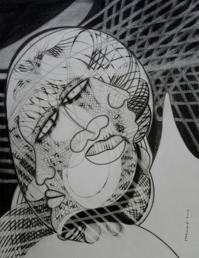 Mahmood Ahmad Moods Charcoal Pencil on Paper 13 x 10 Inches