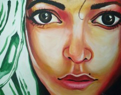 Meera Thanumurthy Untitled Acrylic on Canvas 20 x 24 Inches