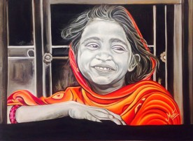 Meeta Rampal Bandini Oil on Canvas 30 x 40 Inches