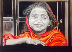 Meeta Rampal Bandini Oil on Canvas 30 x 40 Inches