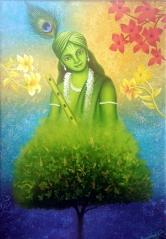 Paramjeet Kaur Be My Valentine Acrylic on Canvas 22 x 16 Inches