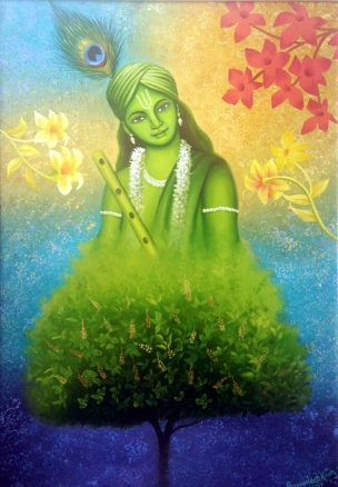 Paramjeet Kaur Be My Valentine Acrylic on Canvas 22 x 16 Inches