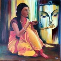 Ritu Saxena Prem Diwani Acrylic on Canvas 20 x 20 Inches