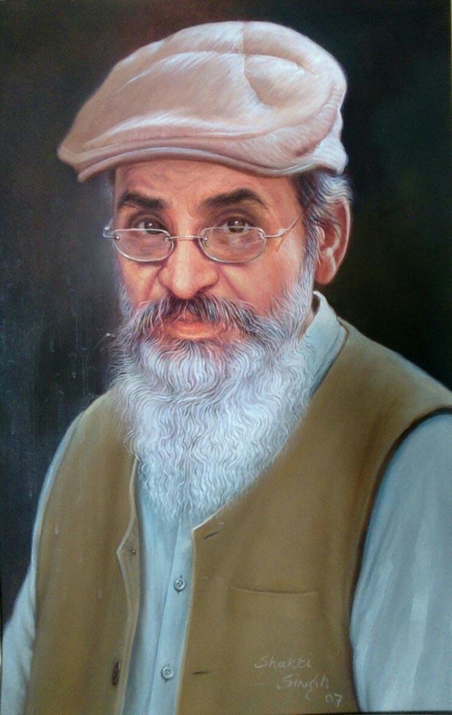 Shakti Singh Portrait Oil on Canvas 36 x 24 Inches