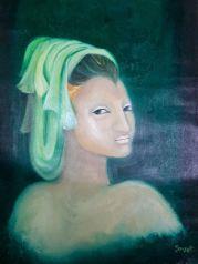 Simret Singh Random Face Oil on Canvas 27 x 20 Inches