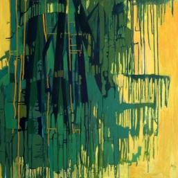 Anu Arora Greening Green Acrylic on Canvas 30x30 Inches