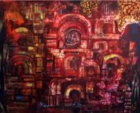 Ashok Mahakur Delhi Monument 20 Acrylic on Canvas 40x50 Inches