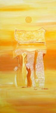 Charu Goel Untitled Acrylic on Canvas 36x18 Inches