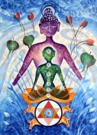 Kamal Sharma Seven Chakras Acrylic on Canvas 30x42 Inches
