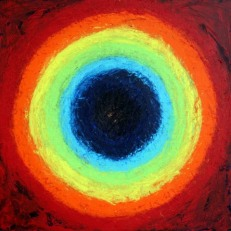Kishore Shanker Centrifugal Acrylic on Canvas 30x30 Inches