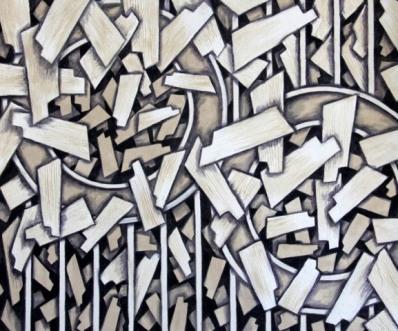 Krishan Karmeshwar Conversation in Air Acrylic on Canvas 30x36 Inches